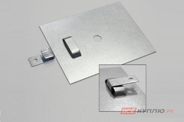 Крючок под стекло с пластиной 100*130 мм