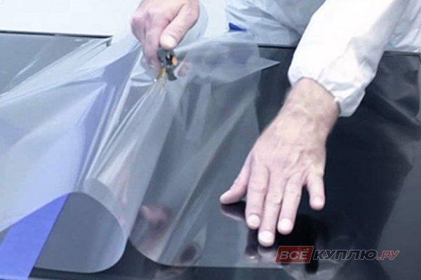 Наклейка безопасной пленки на стекло (без стоимости стекла)