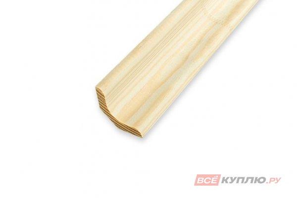 Плинтус лодка деревянный 30 мм*3 м