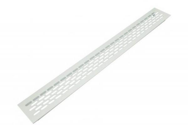 Решетка вентиляционная для подоконника 480*60 мм алюминиевая белая
