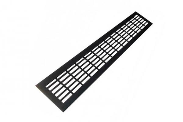 Решетка вентиляционная для подоконника 480*80 мм алюминиевая черная
