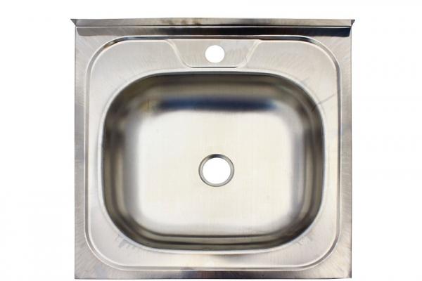 Мойка кухонная накладная 500*500*130*0,4 мм без сифона