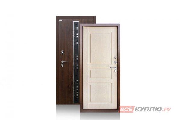 Дверь металлическая уличная Аргус с терморазрывом «ТЕПЛО-5 (2П)» Бином Дуб беленный