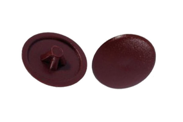 Заглушки на саморезы №2 вишня (100 шт)