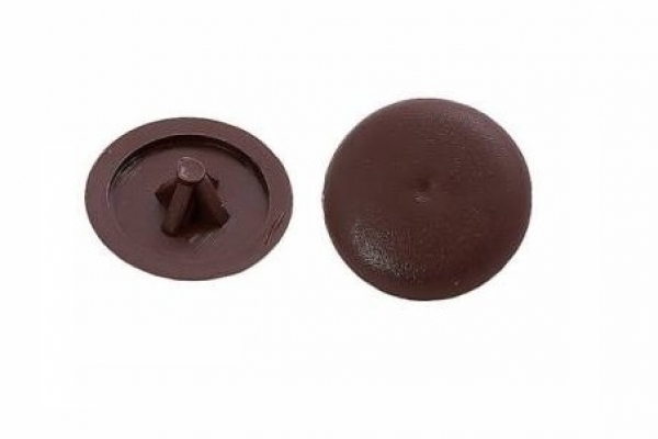 Заглушки на саморезы №2 темно-коричневые (100 шт)